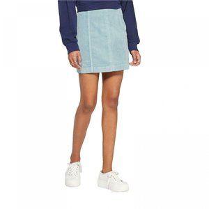 NWT Wild Fable Women's Corduroy Mini Skirt 16 Blue